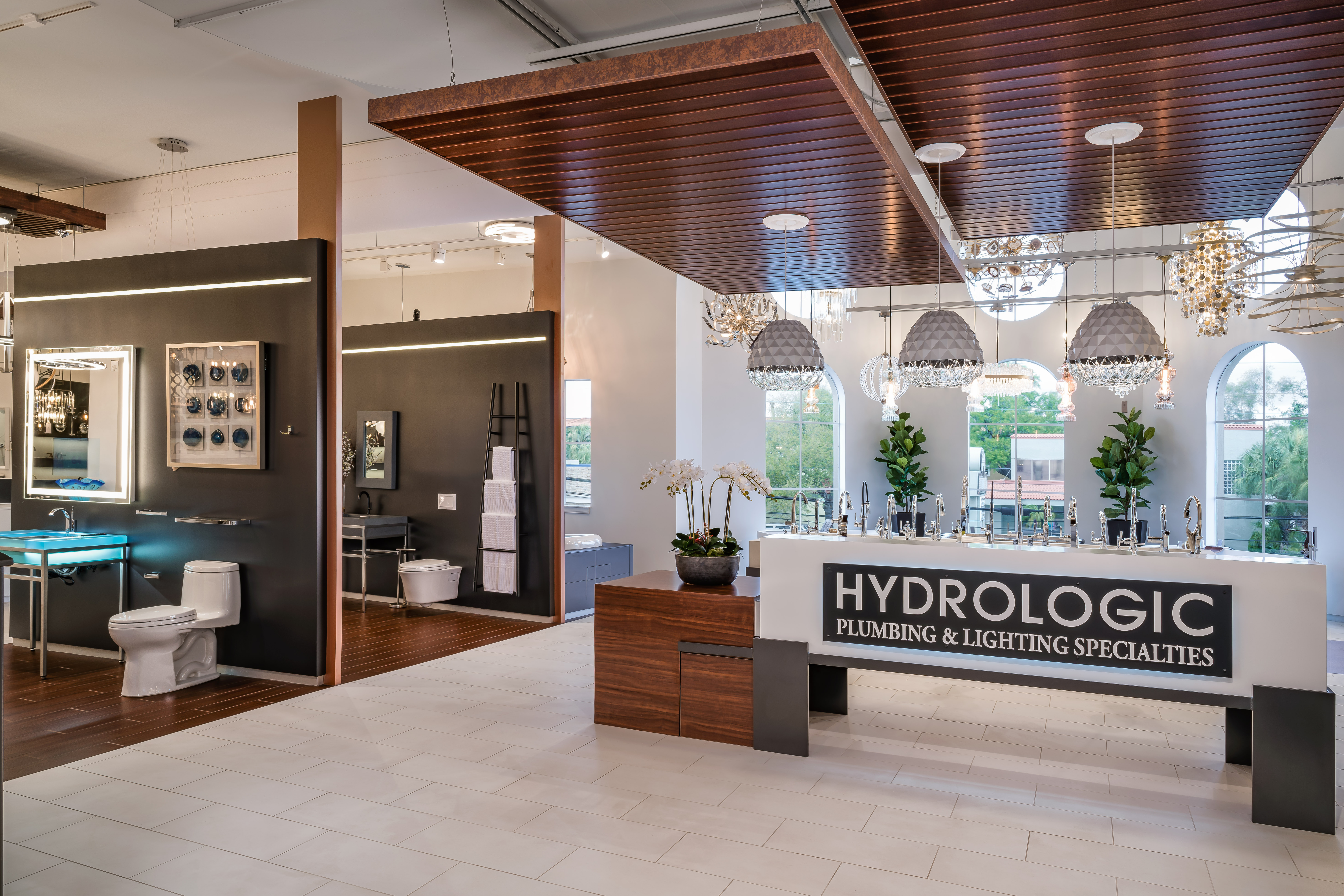 Klar and klar architects design new hydrologic plumbing and lighting showroom in tampa fl