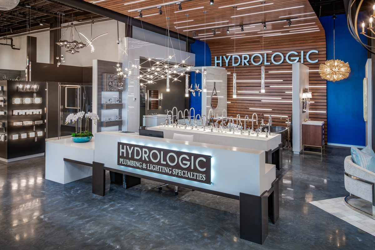 Klar and Klar Architects + Interior Designers Complete Third New Showroom for Hydrologic Plumbing & Lighting